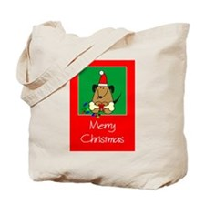 Merry Christmas Dog Tote Bag