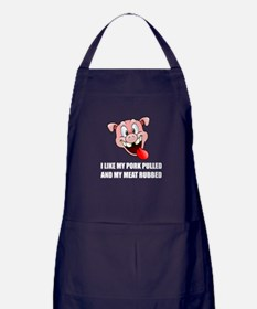 Pork Pulled Meat Rubbed BBQ Apron (dark)