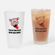 Pork Pulled Meat Rubbed BBQ Drinking Glass