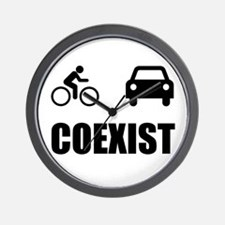 Coexist Car Bicycle Wall Clock