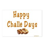 JEWISH HAPPY CHALLE HOLIDAYS Postcards (Package of