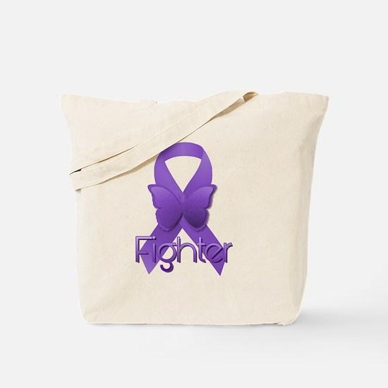 Cute Purple ribbon add adhd alzheimers Tote Bag