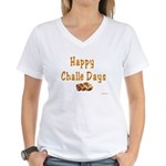 JEWISH HAPPY CHALLE HOLIDAYS Women's V-Neck T-Shir