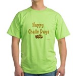 JEWISH HAPPY CHALLE HOLIDAYS Green T-Shirt
