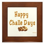 JEWISH HAPPY CHALLE HOLIDAYS Framed Tile