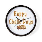 JEWISH HAPPY CHALLE HOLIDAYS Wall Clock