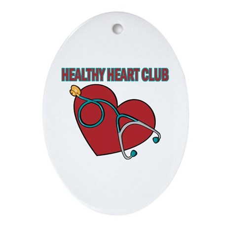 Cardiac Nurses & Patients Oval Ornament