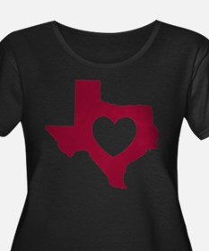 heart_maroon Plus Size T-Shirt