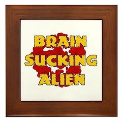 Brain Sucking Alien Framed Tile