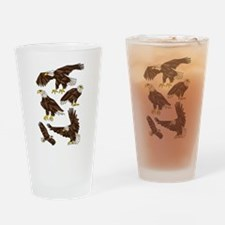 Geometric Bald Eagles Drinking Glass