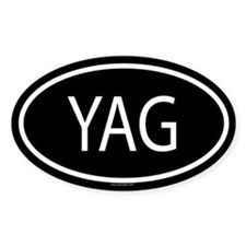 YAG Oval Decal