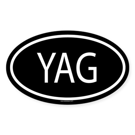YAG Oval Sticker