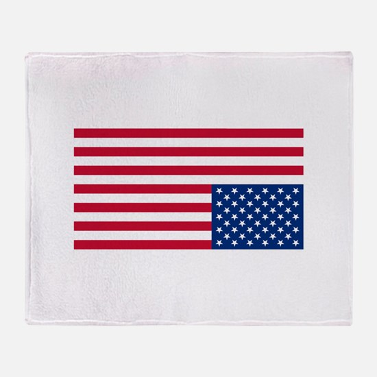 Upside Down Flag Throw Blanket