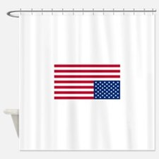 Upside Down Flag Shower Curtain