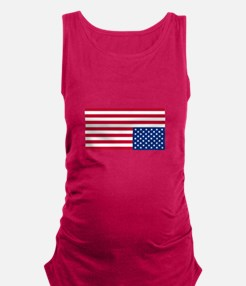 Upside Down Flag Maternity Tank Top