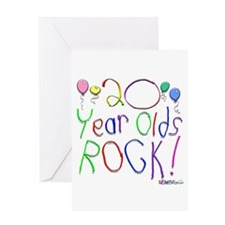 20 Year Olds Rock ! Greeting Card