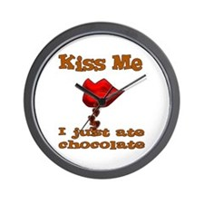 Chocolate Kiss Wall Clock