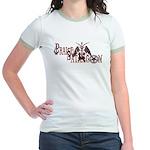 Praise Satan praisesatan.com Jr. Ringer T-Shirt
