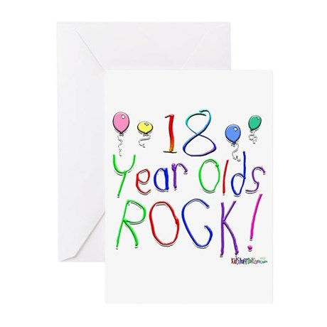 18 Year Olds Rock ! Greeting Cards (Pk of 20)