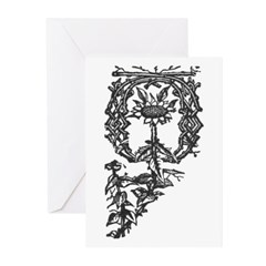 Letter O Greeting Cards (Pk of 20)