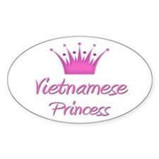 Vietnamese Princess Oval Decal