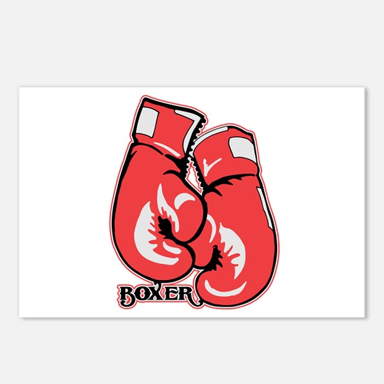 Boxing Gloves Postcards (Package of 8)