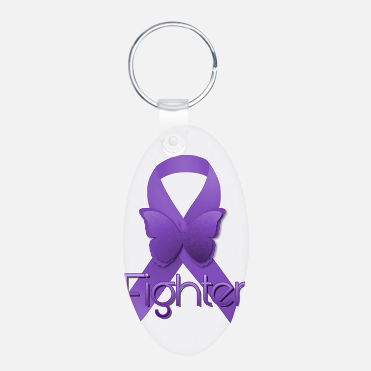 Purple Ribbon: Fighter Keychains