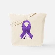 Purple Ribbon: Fighter Tote Bag