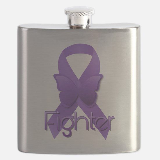 Purple Ribbon: Fighter Flask