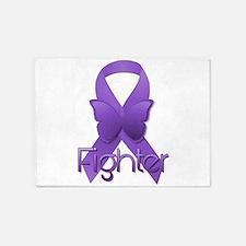 Purple Ribbon: Fighter 5'x7'Area Rug