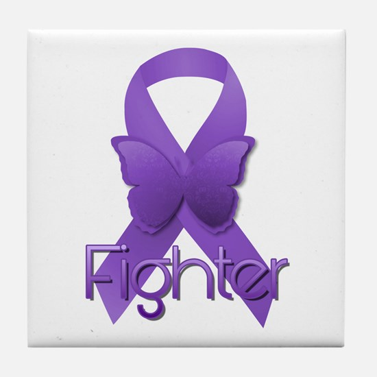 Purple Ribbon: Fighter Tile Coaster