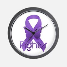 Purple Ribbon: Fighter Wall Clock