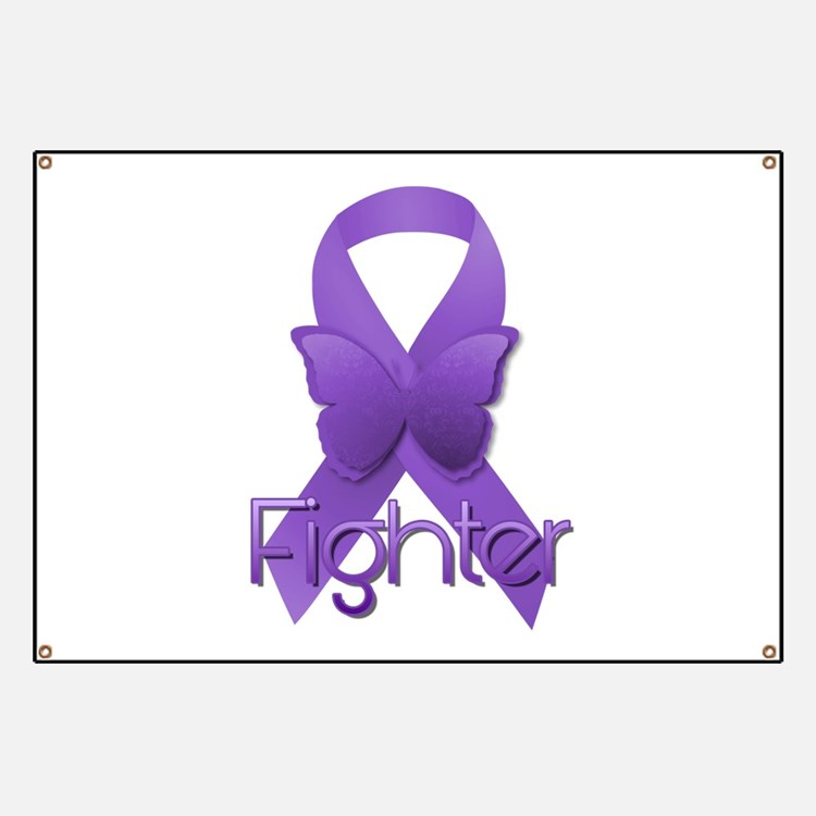 Purple Ribbon: Fighter Banner
