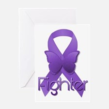 Purple Ribbon: Fighter Greeting Card