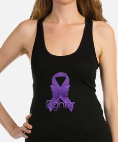 Purple Ribbon: Fighter Racerback Tank Top