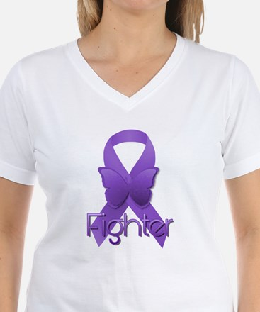 Purple Ribbon: Fighter Shirt