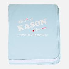 Cute Kason baby blanket