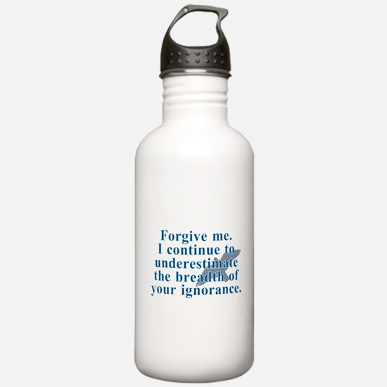 Forgive me, Miss Peregrine's Quote Water Bottle