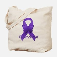 Purple Ribbon: Survivor Tote Bag