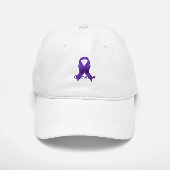 Purple Ribbon: Survivor Baseball Baseball Cap