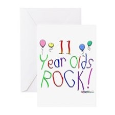 11 Year Olds Rock ! Greeting Cards (Pk of 20)