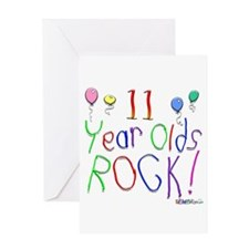 11 Year Olds Rock ! Greeting Card