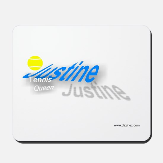 justine tennis queen Mousepad
