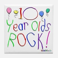 10 Year Olds Rock ! Tile Coaster