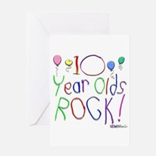 10 Year Olds Rock ! Greeting Card