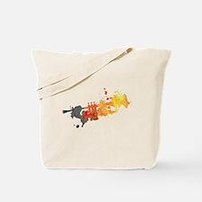 Paint Splat Trumpet Tote Bag
