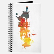 Paint Splat Trumpet Journal