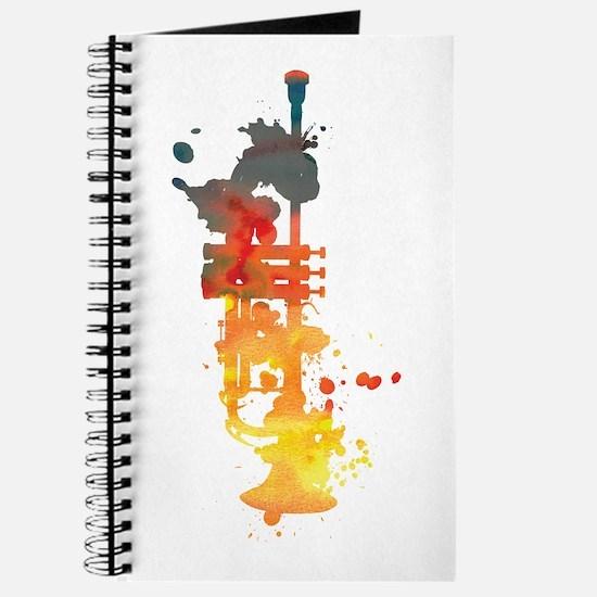 Paint Splat Trumpet Journal