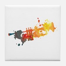 Paint Splat Trumpet Tile Coaster