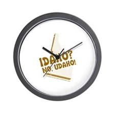 Idaho? No Udaho! Wall Clock